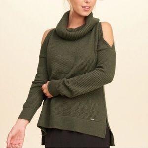 Hollister Cowl Neck Cold Shoulder sweater